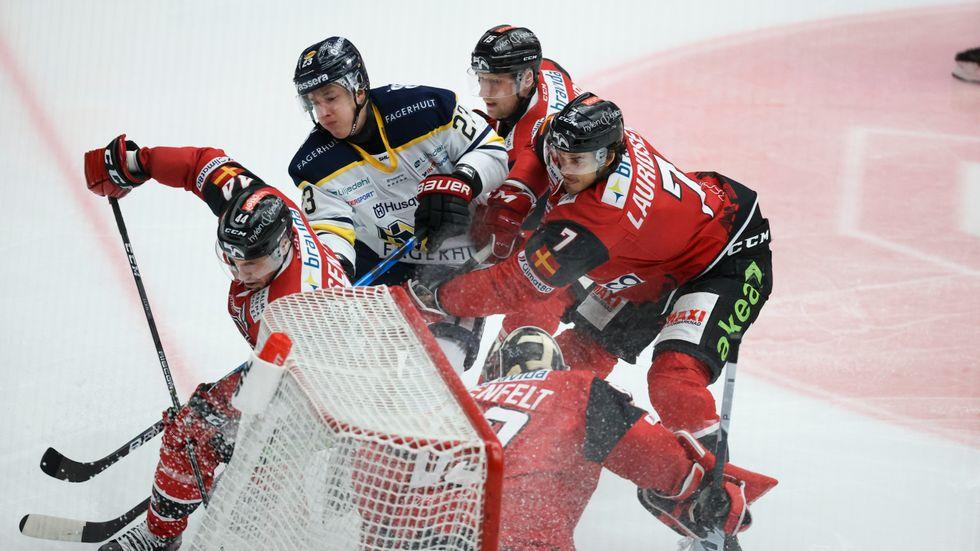 Malmö har drabbats av smittspridning på nytt och tvingas skjuta upp sina två nästkommande matcher. Men tidsplanen för grundserie och slutspel påverkas inte. Arkivbild.