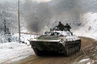 Ryska soldater i Tjetjenien. Personerna på bilden har inte med texten att göra. Arkivbild.