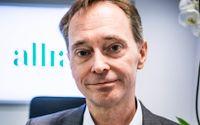 Gunnar Axén, ny styrelseordförande för Allra, på Allras kontor på Sveavägen i Stockholm.