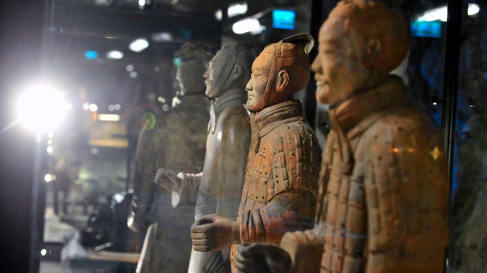 Delar av den världsberömda terrakottaarmén från Kina ställdes 2010 ut i Bergrummet i Östasiatiska museets regi.