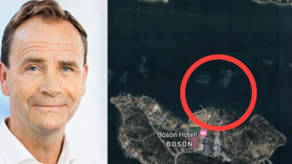 Allan Widman. Askrikefjärden vid Bosön på Lidingö.