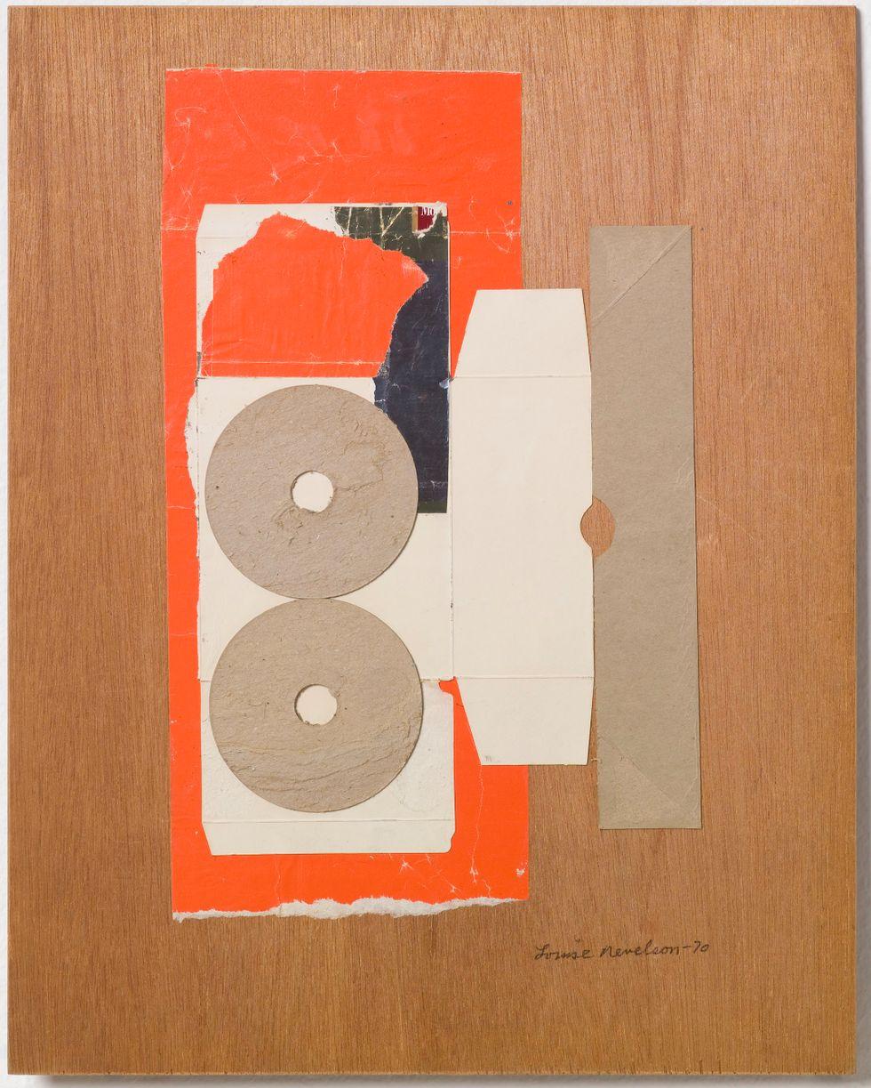 Louise Nevelson, Utan titel, collage, 1970.