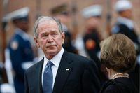 USA:s tidigare president George W Bushs porträtt av sårade soldater ställs ut i Washington. Arkivbild.