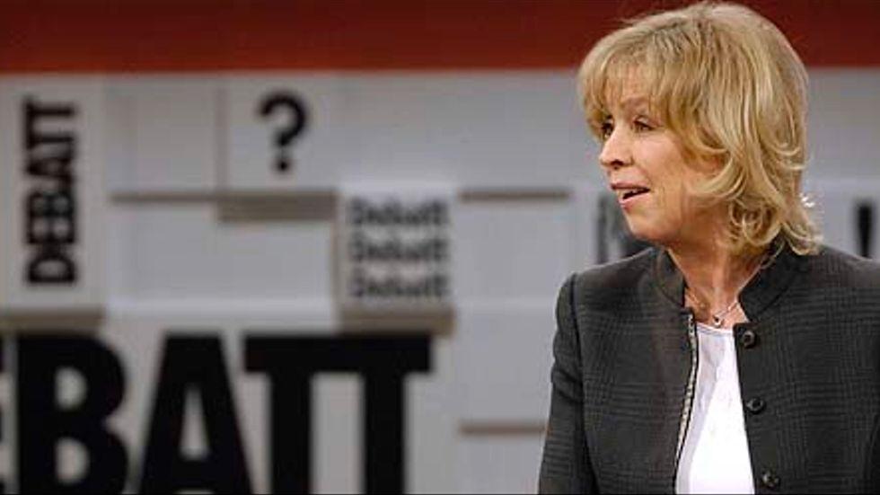 Stina Lundberg i debattprogrammet SVT Debatt