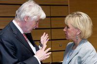 Finlands utrikesminister Erkki Tuomioja medf sin svenska kollega Margot Wallström.