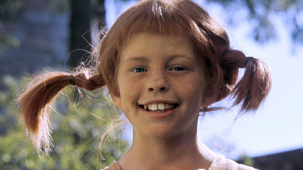 Inger Nilsson i rollen som Pippi Långstrump.