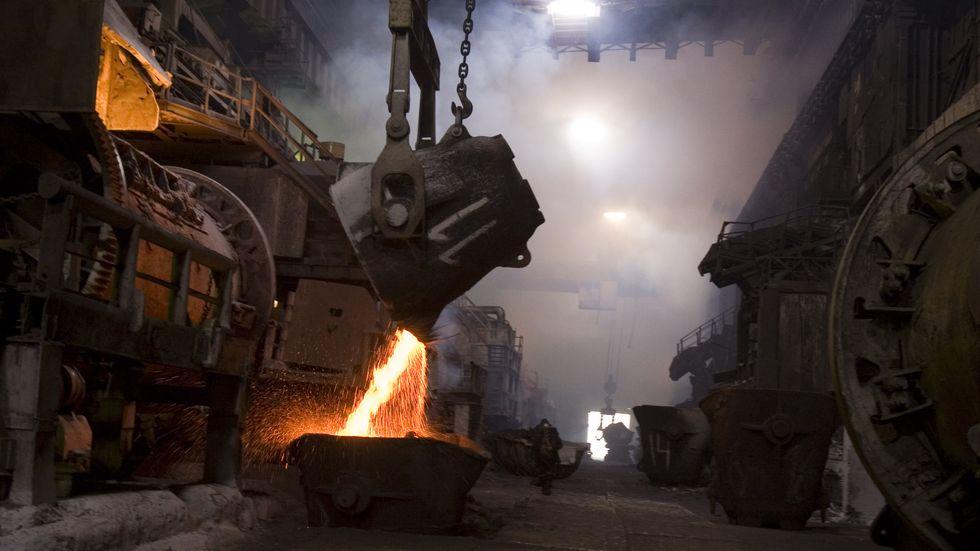 Arkivbild från Norilsk Nickels anläggningar i Ryssland.