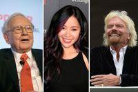 Warren Buffet, Michelle Phan och Richard Branson.