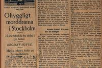 Vampyrmordet vid Sankt Eriksplan slogs upp stort