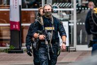 Polisens regionala insatsstyrka på plats i Lund.