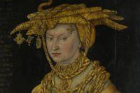 """Lucas Cranach den äldre (1472-1553), """"Porträtt av hertiginnan Katarina"""", odaterad."""