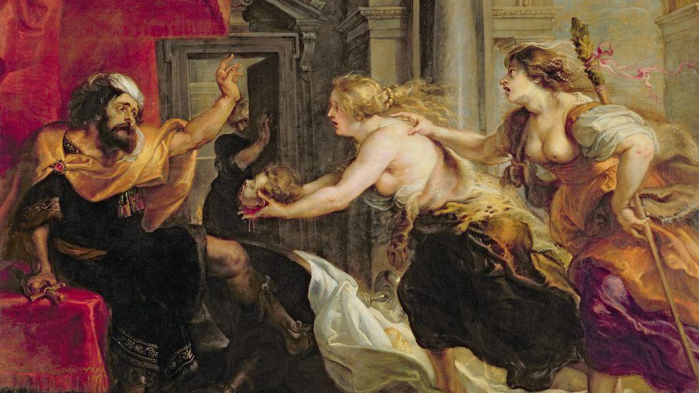 Tereus får se sin son Itys huvud. Målning av Peter Paul Rubens 1637. Tavlan finns på Pradomuseet i Madrid.