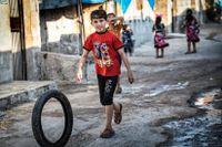 Ett syriskt flyktingläger utanför Idlib.