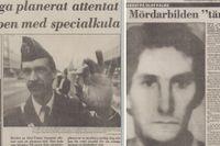 Två av de rubrikerna i SvD den dramatiska första veckan efter Palmemordet.