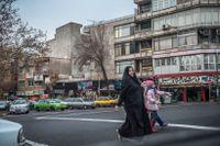 Bild från Irans huvudstad Teheran.