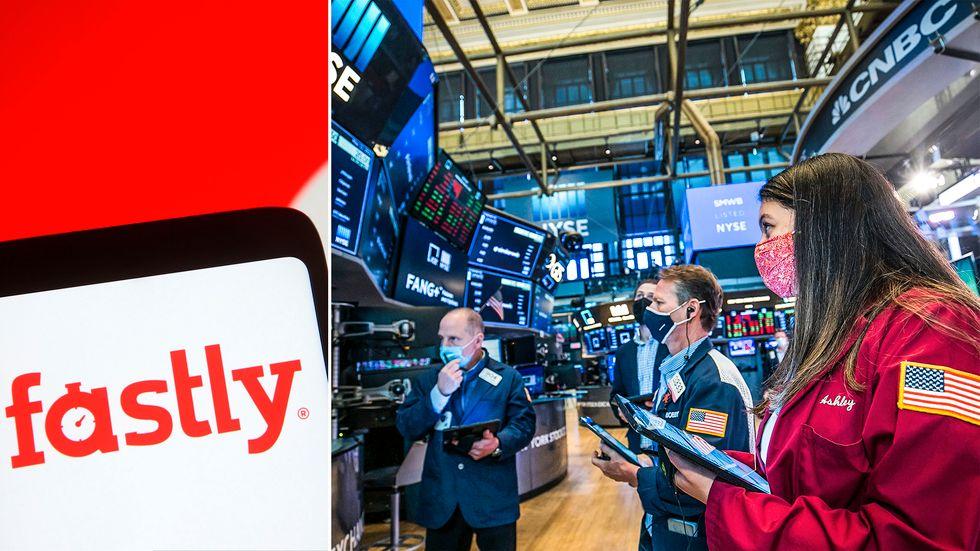 Fastlys aktie steg 10 procent på New York-börsen och börsvärdet ökade med 5 miljarder kronor efter molnbolagets teknikhaveri på tisdagen.