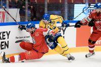 Tre Kronor förbereder sig för öppningsmatchen mot Tjeckien i Karjalaturneringen och har fått negativa svar på båda sina covid-19-test. Arkivbild.