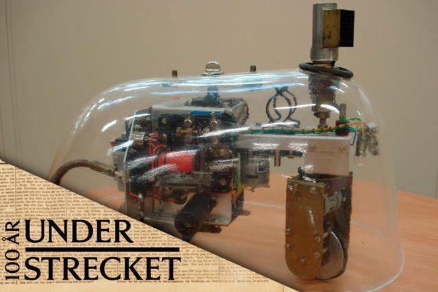 """Mekanisk """"sköldpadda"""" konstruerad av Grey Walter 1948–49."""