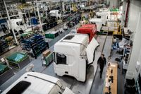 Scania stoppar verksamheten vid flera fabriker. Arkivbild.