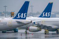 Flygbolaget SAS, med den avgående vd:n Rickard Gustafson, redovisar delårsrapport. Arkivbild.