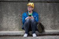En Pokémon-jägare med Pikachu-keps i Chicago i somras. Arkivbild.