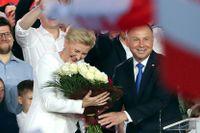 Polens president Andrzej Duda och hans hustru Agata Kornhauser-Duda.