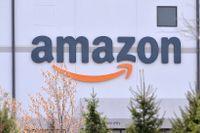 Ett Amazonlager i New York i USA.