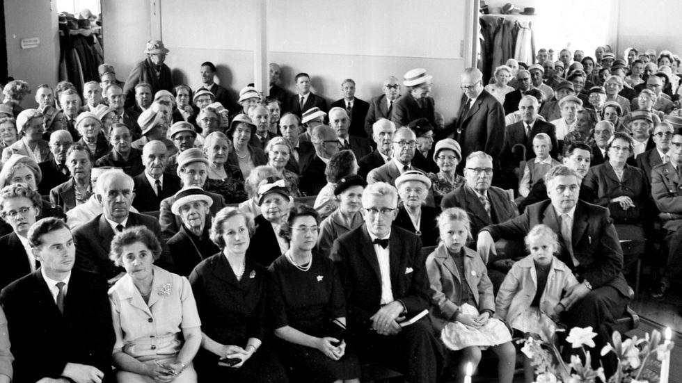 Baptistförsamlingen i Kvissleby firar 100-årsjubileum 1960.