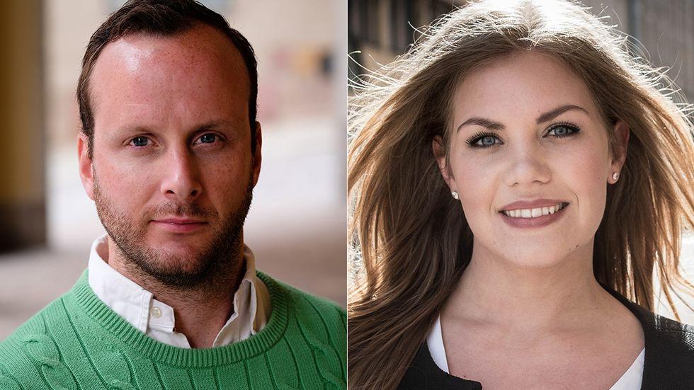 Christian Carlsson och Sarah Havneraas, KDU.