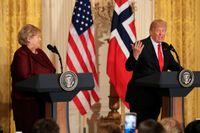 Donald Trump sade under ett möte att USA skulle ta in mer folk från länder som Norge. Häromdagen träffade han den norska statsministern Erna Solberg.