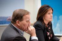 Statsminister Stefan Löfven (S) och arbetsmarknadsminister Eva Nordmark (S).