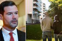 Johan Forssell, rättspolitisk talesperson för Moderaterna, reagerar starkt på SvD:s artiklar och vill se flera förändringar i lagstiftningen.