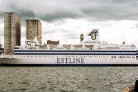 Fartyget M/S Estonia i Värtahamnen året före förlisningen.