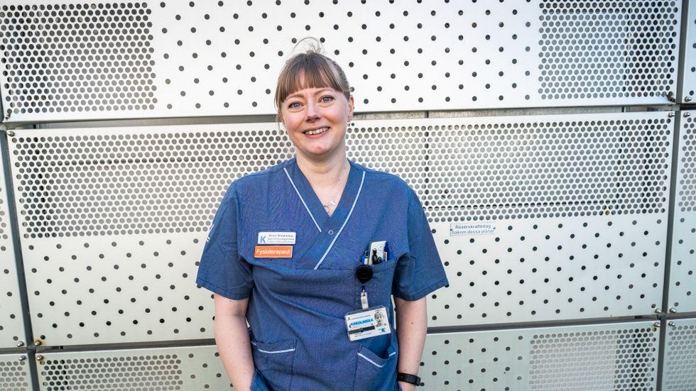 Anna Skawonius, fysioterapeut på Karolinska i Huddinge.