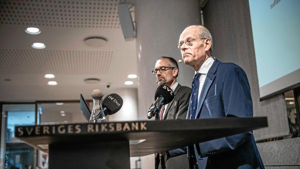 Stefan Ingves på dagens presskonferens