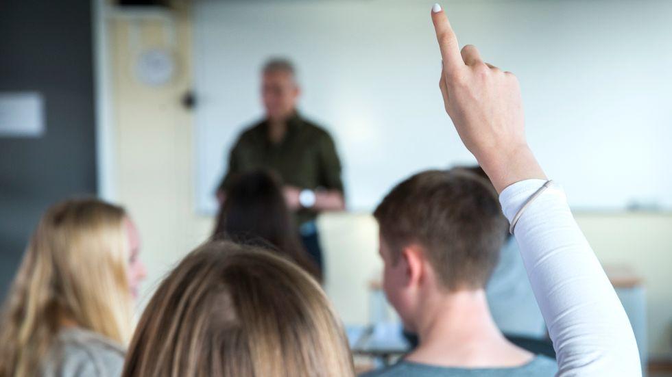 Det finns ett utbrett missnöje bland gymnasielärarna och många av dem funderar på att byta jobb. Arkivbild.
