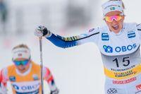 Frida Karlsson tog en skrällseger i Holmenkollen förra vintern.