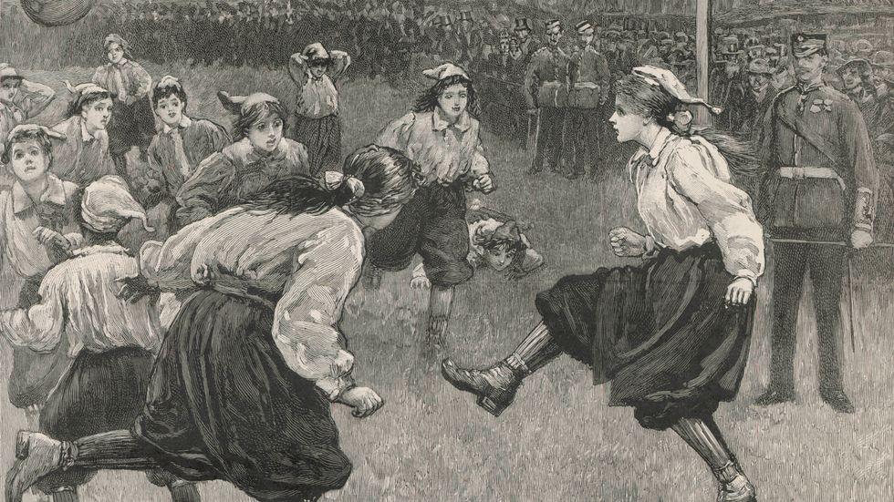 Brittisk damfotboll anno 1895.