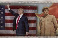 USA:s president Donald Trump och Folkrepubliken Kinas grundare Mao Zedong.